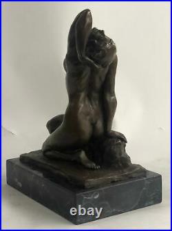 Hand Made Nude Female Gennarelli Decorative Statue Figurine Bronze Sculpture Art