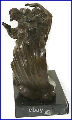 Hand Made Nude Venus Resting on Moon by Reiner 100% Genuine Bronze Statue Deal