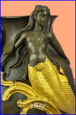 Hand Made Original MiloSexy Mermaids Bronze Vase Statue Made by Lost Wax