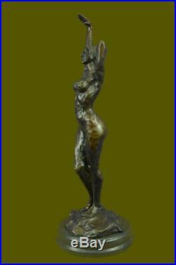 Hand Made Original Vitaleh Nude Female Abstract Century Bronze Sculpture Statue