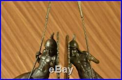 Hand Made Pair Samurai Warrior Bookends Book End Bronze Sculpture Statue Sale