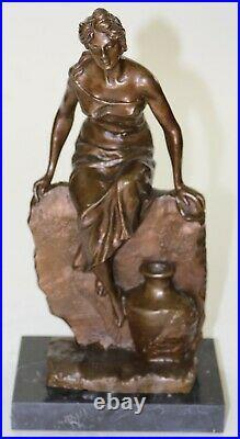 Hand Made Quality Art Nouveau Roman Goddess Bronze Sculpture Statue Figure Deal
