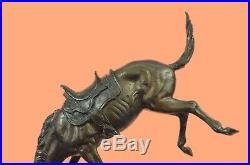 Hand Made Real Bronze Wicked Pony By Frederic Remington Art Sculpture Statue