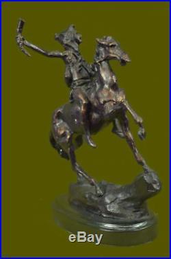 Hand Made Remington Bronze Statue, The Scalp, fourth sculpture Figurine Artwork
