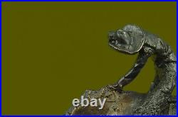Hand Made Remington Rattlesnake Solid Cast Bronze Cowboy Rodeo Statue Art
