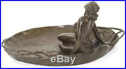 Hand Made Rubin Amazing Jewelry Holder Nu Statue Figurine Bronze Sculpture