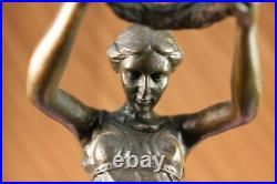 Hand Made Sculpture Bronze Statue Roman Greek Woman Mythology Diana Hot Cast