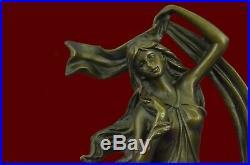Hand Made Sensual Floral Bronze Candle Holder Bronze Sculpture Statue Figure