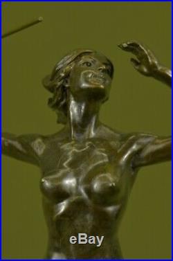 Hand Made Statue Diana Diane Bronze Sculpture moon goddess Artemis Huntress