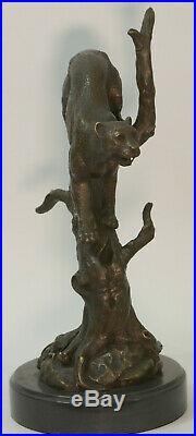 Hand Made Statue Lion Cougar Bobcat Panther Lynx Puma Art Bronze Sculpture SALE