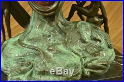Hand Made Statue Salvador Dali Nobility Of Time Special Patina Bronze Statue Art