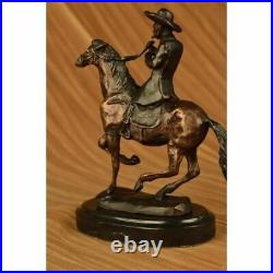 Hand Made Thomas Cowboy Horse Co Statue Figurine Bronze Sculpture EX