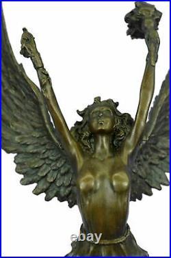 Hand Made Venus Goddess of Love Bronze Sculpture Statue Art Figurine by Moreau