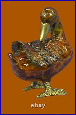 Hand Made Vienna Austrian Large Cold Painted Real 100% Bronze Duck Statue Deal