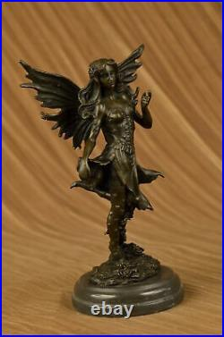 Handcrafted Bronze Sculpture Hand Made Statue Fairy / Mythical Nude Fairy Decor