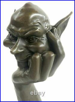 Handcrafted Detailed Signed Gnomes Made by Lost wax Method Bronze Statue GIFT