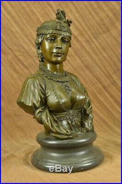 Handcrafted Victorian Female Bust Bronze Sculpture Hot Cast Hand Made Statue Art