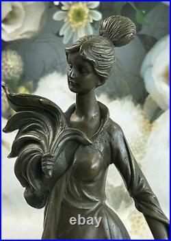 Handcrafted Victorian Female Bust Bronze Sculpture Hot Cast Hand Made Statue NR