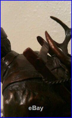 Horns, Cape & Model 70 #1/55 Cody Houston Bronze Statue Made for Winchester Read