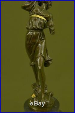 Hot Cast Gorgeous Roman Goddess Hand Made Genuine Bronze Sculpture Statue Decor