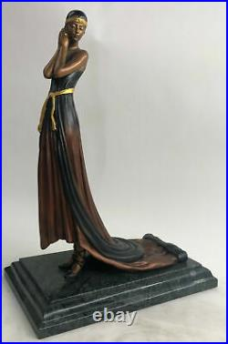 Large Size Bronze art nouveau statue Nymph of the Fields Made by Lost Wax Decor