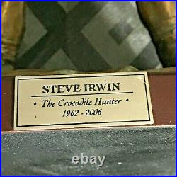 Limited Edition Steve Irwin & Crocodile Bronzed Statue 5000 Made Aussie Icon