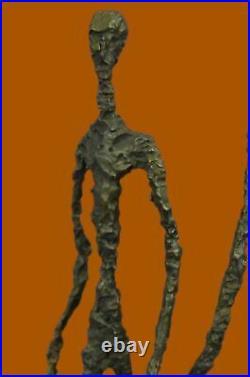 Lost Wax Method Figure Sculptures Walking Group European Made Statue Decor Art