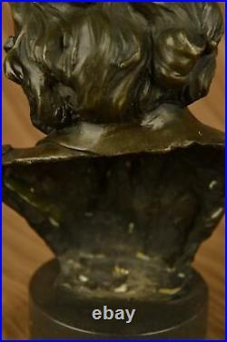 Ludwig Van Beethoven Bust Figurine Sculpture Statue European Made Cast Bronze
