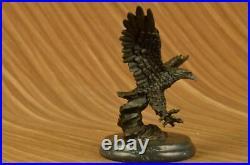 Magnificent American Bald Eagle Bronze Milo Hand Made Statue Figurine Hot Cast