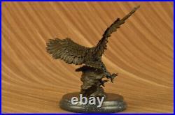 Magnificent American Bald Eagle Bronze Statue Milo Hand Made Statue Figurine Nr
