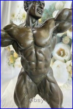 Male Bodybuilder Muscular Art Dec Bronze Sculpture Figurine Statue Hand Made LRG