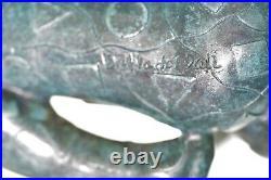 Male Sculpture Salvador Hommage Geometric Bronze Hand Made Sculpture Statue Sale