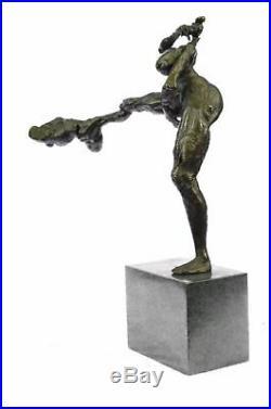 Modernist Modern MID Century Abstract Bronze Statue Sculpture Hand Made Figurine