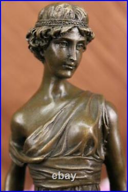 Mother Nature Goddess Garden Statue 100% Pure Bronze Sculpture Hand Made Artwork