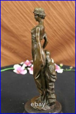 Mother Nature Goddess Garden Statue 100% Pure Bronze Sculpture Hand Made Figure