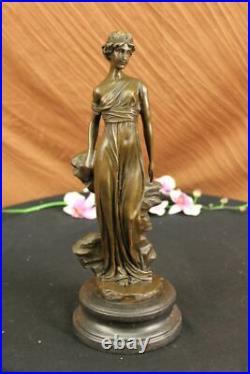 Mother Nature Goddess Garden Statue 100% Pure Bronze Sculpture Hand Made Statue