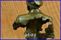 Musician Saxophone Player Male Hand Made Art Bronze Sculpture Statue Figurine NR
