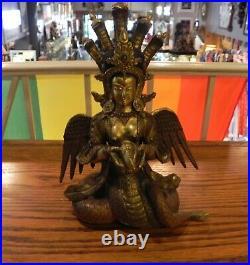 Naga Kanya (Naag Kanya) Hindu goddess Copper and Bronze Statue Made in Nepal