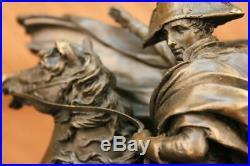 Napoleon Bonaparte Crossing The Alps Pure Bronze Statue Hand Made Sculpture Figu