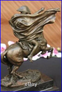 Napoleon Bonaparte Crossing The Alps Pure Bronze Statue Hand Made Sculpture Sale