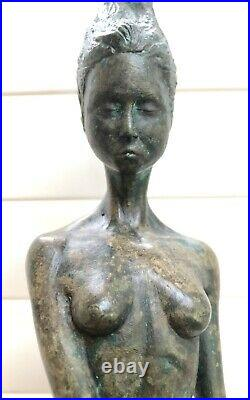 Ondine Water Nymph Solid Pure Bronze Lost Wax Sculpture Art Made In Uk Foundry