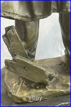 Outlaw Cowboy with Gun Hand Made Hot Cast Bronze Sculpture Statue Western Deco Art