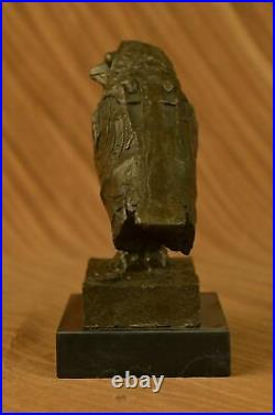 Pablo Picasso Famous Owl Bronze Sculpture Hand Made Marble Base Statue Art Sale
