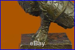 Pablo Picasso Famous Owl Bronze Sculpture Hand Made Marble Base Statue Figurine