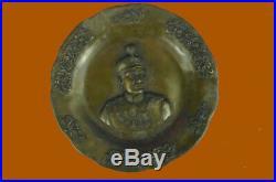 Pahlavi Dynasty. Reza Shah. Bronze Medallion. Rare Hand Made Masterpiece Statue