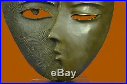 Picasso Abstract Faces Statue Figurine Bronze Sculpture Hand Made Statue