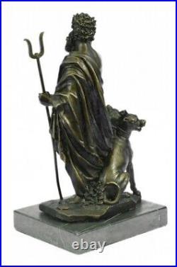 Pluto & Cerberus 3 Headed Dog Hand Made Bronze Sculpture Greek Mythology Statue