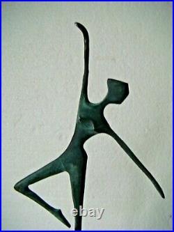 RRR RARE Hand Made Bronze Ballerina Ballet Statue Sculpture Abstract Art