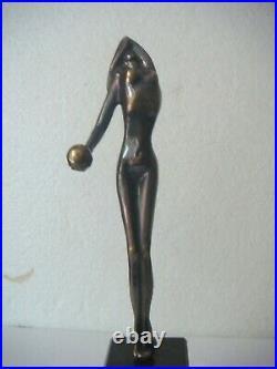 RRR RARE Vintage Hand Made Bronze Nude Statue Sculpture Abstract Art