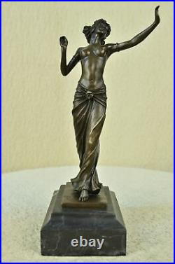 Rare Art Deco Greek nude Goddess statue by Preiss Hand Made Bronze Masterpiece